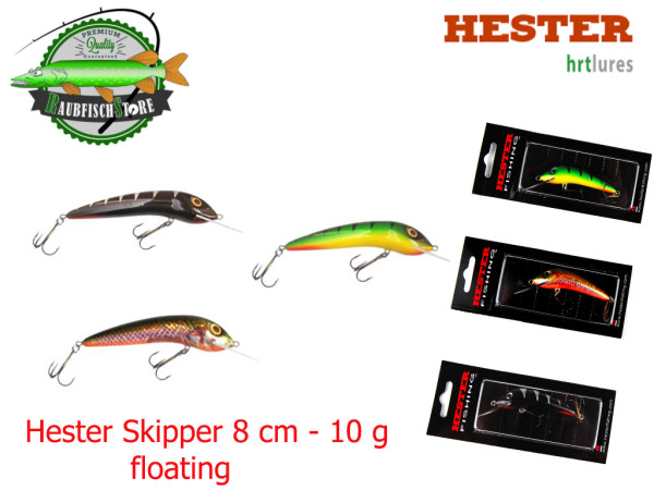 Hester Wobbler - Skipper - 8 cm - 10 g - floating
