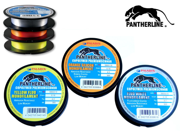 Pantherline Fluo - 300 m Spule - Monofile Angelschnur