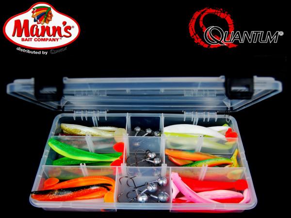 Quantum - Q Paddler Köderbox 12 cm trübes Wasser incl. Jigköpfe - Komplettbox