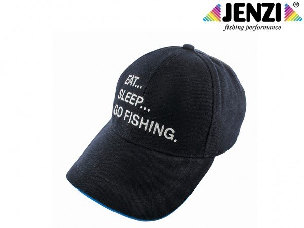 Original Jenzi Basecap - Eat - Sleep - go fishing