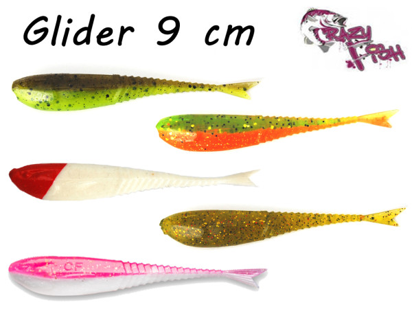 Crazy Fish Glider 9 cm - 8 er Pack