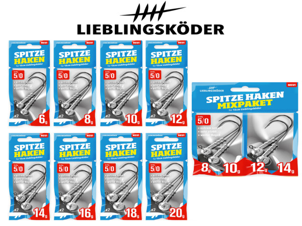 Lieblingsköder - Jigköpfe - Spitze Haken 5/0