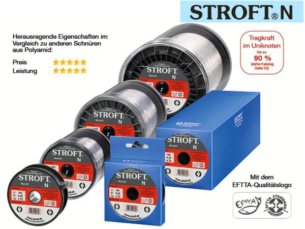 Monofile Schnur - 300 m - Stroft - N - Kristallweiß