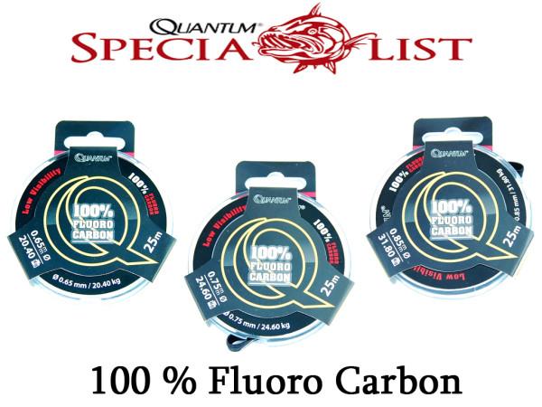 Quantum Fluoro Carbon Predator 25 m Spule