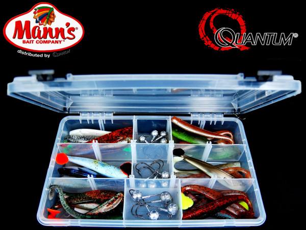 Quantum - Q Paddler Köderbox 12 cm klares Wasser incl. Jigköpfe - Komplettbox