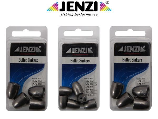 Bullet Sinkers - Jenzi 3,5 bis 21 g