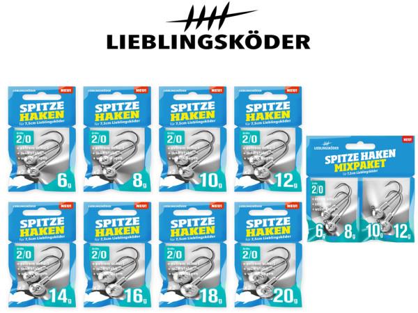 Lieblingsköder - Jigköpfe - Spitze Haken 2/0