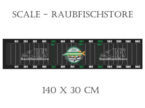Raubfischstore - Scale - 140 x 30 cm - Mit Alu-Anlegewinkel