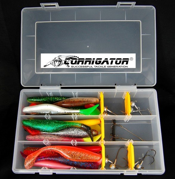 Tacklebox Rivershads 15 cm incl. Jigs - Hecht